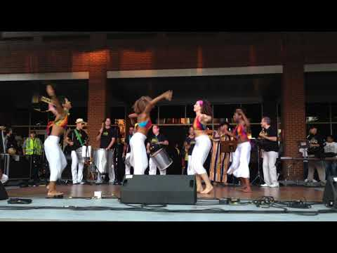 Billy on Cavaquinho with Samba NY! and Dancers in Latin Music Festival