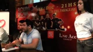 Conferencia de Prensa Lanzamiento Concierto Roupa Nova en Paraguay