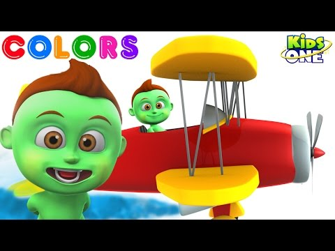 BABY HULK Flying An AEROPLANE & Learn COLORS for Children | New Learning Videos for Kids
