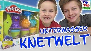 Play-Doh Unterwasser Knetwelt Hasbro Spielzeug Unboxing und spielen Kinderkanal