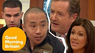 Creepy Clown Pranksters Clash With Angry Piers Morgan In Fiery Interview   Good Morning Britain