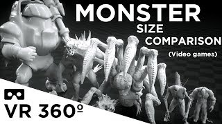 Monsters Size Comparison VR 360 (Video games)