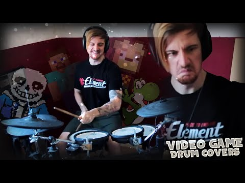 PLAYING VIDEO GAME TRACKS ON DRUMS. (#2)