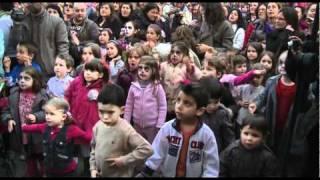 1er. FlashMob Infantil en España. Juan D y Beatriz y WWF