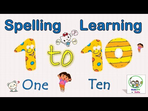 Learn Numbers 1 to 10 with spelling|Number Spelling 1-10|Number Spellings for kids