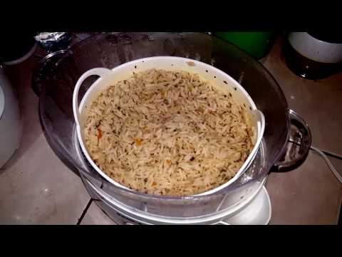 How to make seasoned rice in Black and Decker Steamer