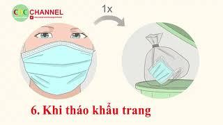 Hướng dẫn đeo khẩu trang Y tế đúng cách và các trường hợp cần thiết phải đeo