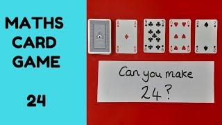 Maths card game -  24