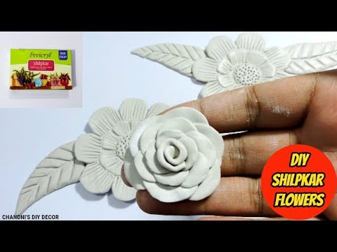 How To Make Shilpkar Clay Flowers Without Any Tool || DIY Air Dry Clay Flowers || Shilpkar Rose ||