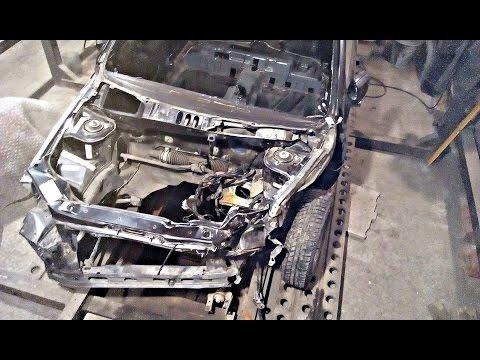 Лада Гранта.Кузовной ремонт после лобового удара.Часть1