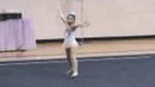 7-yr-old Elena Freehands at US Regional 2008 Rhythmic Gymnastics 新体操小学生