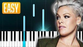 P!nk - Walk Me Home (100% EASY PIANO TUTORIAL)