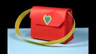 How To Make A Paper Handbag - Easy Origami Handbag Tutorial