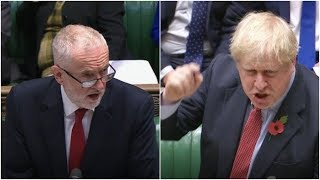Live: Boris Johnson goes to head-to-head with Jeremy Corbyn in pre-election PMQs   ITV News