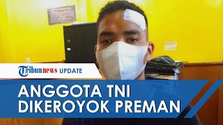 Cecok Masalah Bayar Parkir, Anggota TNI di Medan Barat Dikeroyok 10 Preman, Dihantam Kayu Balok
