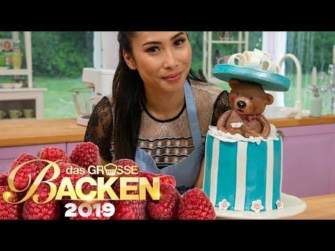 XXL-Schokoladen-Kuchen mit Teddy-Bär | Aufgabe | Das große Backen 2019 | SAT.1