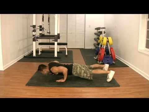Alternating Staggered Plyo Push Up