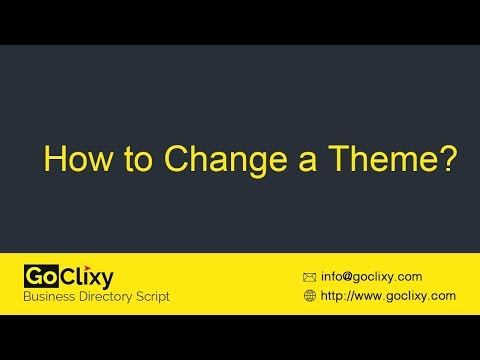 GoClixy - How to Change a Theme?