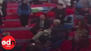 Moment Jeremy Corbyn Hit With An Egg In Mosque