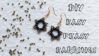 🎀 Easy Peasy Earrings DIY 🎀 Seed Bead Earrings🎀 (0086)