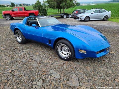 1981 Bright Blue Corvette 4spd For Sale Video