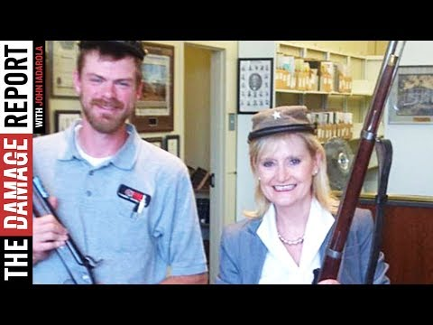 Photo Surfaces Of Cindy Hyde-Smith Posing With Confederate Artifacts