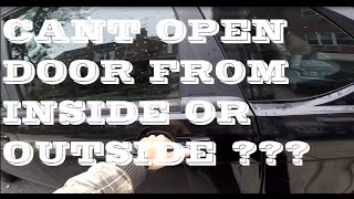 How to open car door if both handles dont work. Sample car: ford focus