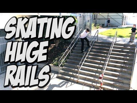 SKATING HUGE RAILS WITH THE CREW !!! - NKA VIDS -