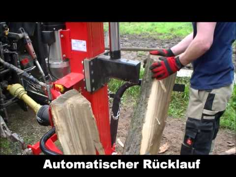 Hochprofessioneller Holzspalter Zapfwelle. Robuster und leistungsstarker Zapfwellen-Holzspalter.