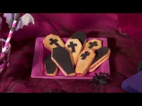 Chica Vampiro doodskist koekjes voor Halloween