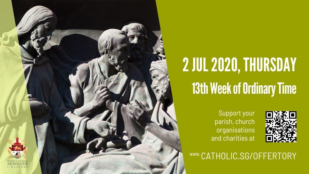 Catholic Daily Mass Online 2 July 2020 from Singapore
