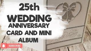 Silver 25th Wedding Anniversary Card and Mini Album