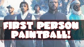 FIRST PERSON PAINTBALL! - GTA 5 Online Funny Moments