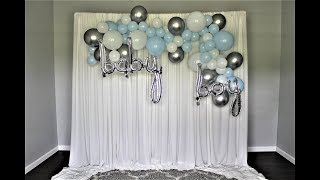 Baby Shower Balloon Garland Backdrop DIY | How To | Kit Review