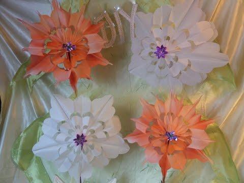 DIY: Blumen & Blüten aus Papier-Frühstückstüten BASTELN & FÄRBEN von Blüten