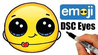Thankful Emoji - How to Draw- Draw So Cute Eyes step by step EASY