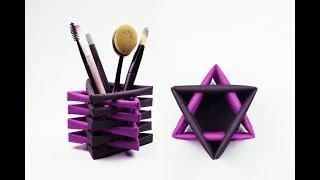 Origami Pen Stand | Makeup Organizer | Paper Craft