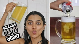 I washed my hair with beer & This happened!
