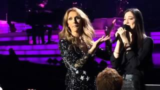 Celine Dion gets surprised when she listens to the brazilian Maria Claudia