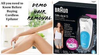 Braun Silk-Epil 5 Wet and Dry Epilator Review and Demo l Zero Waste Life Hair Removal l Sassy Swati