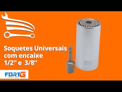 Soquete Universal de 1/2 Pol. com Adaptador - Video