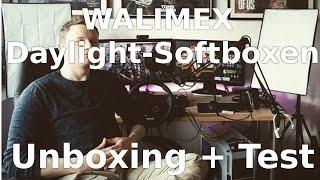 Unboxing & Test - Walimex Daylight Set 250 (Softboxen)! [Deutsch/1080p]