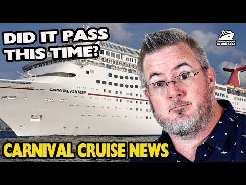 CDC Reinspects the Carnival Fantasy | Carnival Mobile | Carnival Galveston