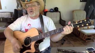 1878  -  My First Taste Of Texas -  Ed Bruce vocal & acoustic guitar cover with chords