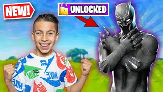 Unlocking *BLACK PANTHER* in FORTNITE! | Royalty Gaming