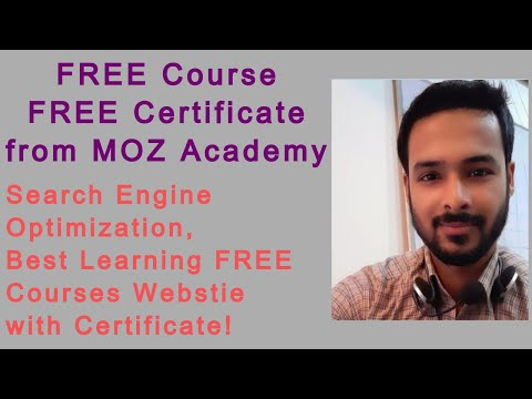 Tutorial 13: FREE Online SEO Courses with FREE Certificate MOZ ...