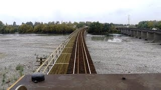 preview picture of video 'New Coastal Pacific Train 2014 - Part 1 -  from the Drivers Cab and Open Air Observation Carriage.'