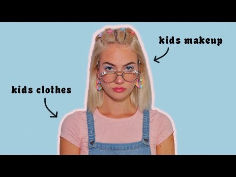 Giving Myself a Makeover Using Only Kids Products
