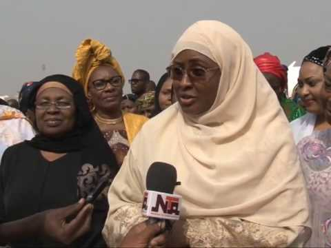 Wife of The President Aisha Buhari Back From Lesser Hajj