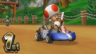 playing as toad on mario kart wii with my toad wii remote with wii motion plus inside